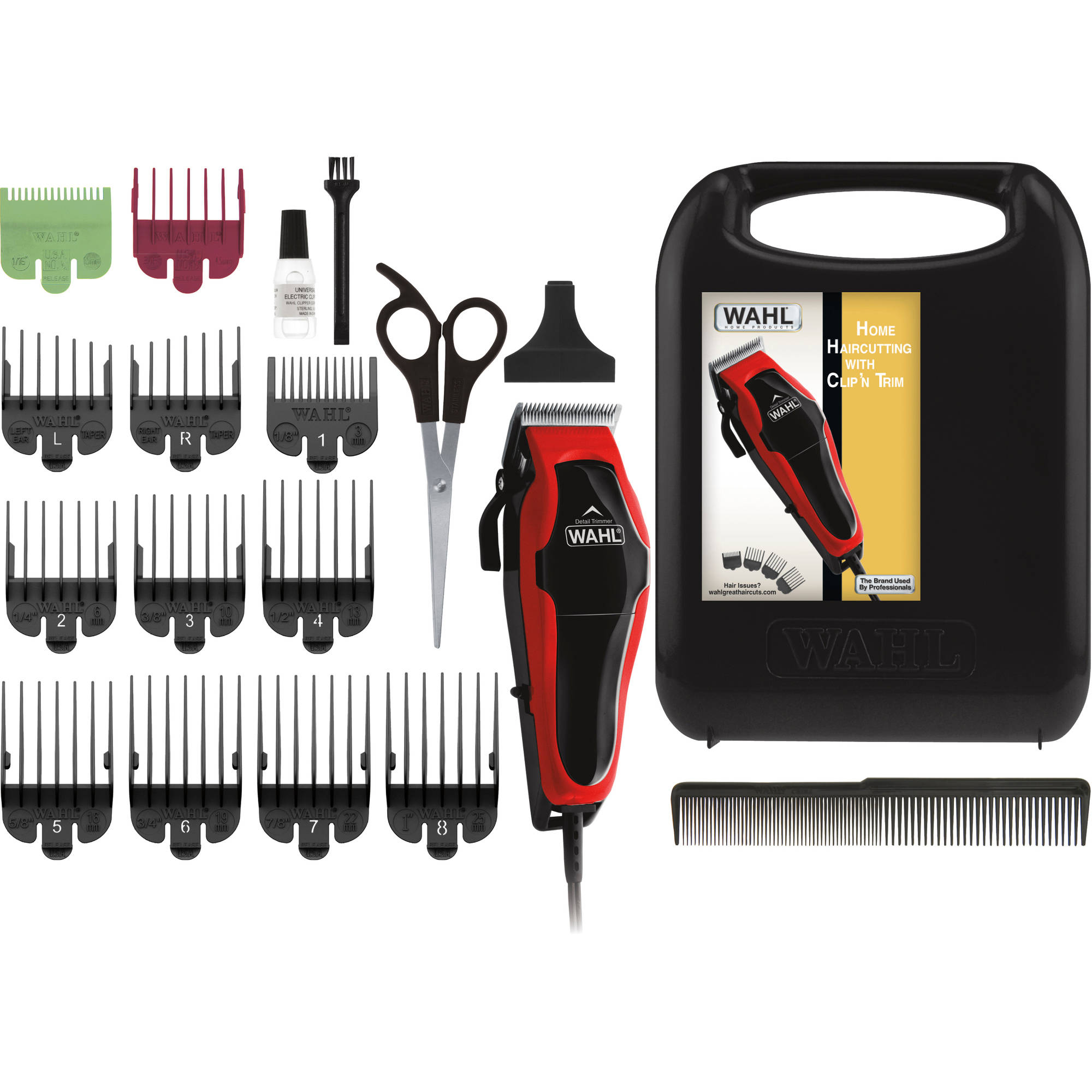 Wahl Deluxe Chrome Pro Home Haircutting Kit Clipper And Trimmer