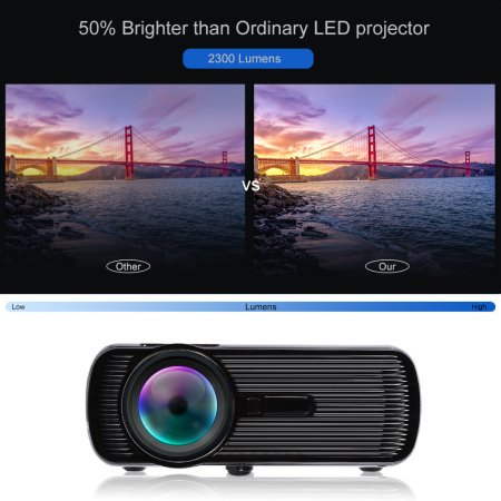 1000 Lumens Projectors On Sale Multimedia Home Led Theater Mini Projector For Movies With Hdmi  Av  Vga Inputs