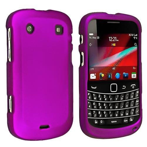 Insten Snap-on Rubber Coated Case For BlackBerry 9900 / 9930, Purple