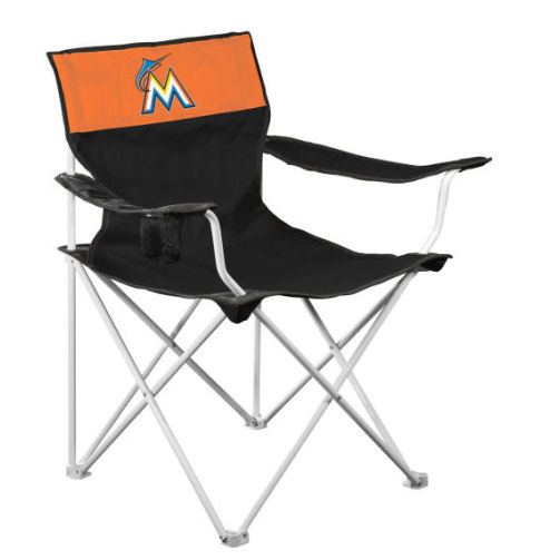 Logo Chair Mlb  Miami Marlins Canvas Cha