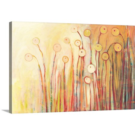 Great BIG Canvas | Jennifer Lommers Premium Thick-Wrap Canvas entitled Dreaming of Marmalade in the Poppy (Marmalade Garden)