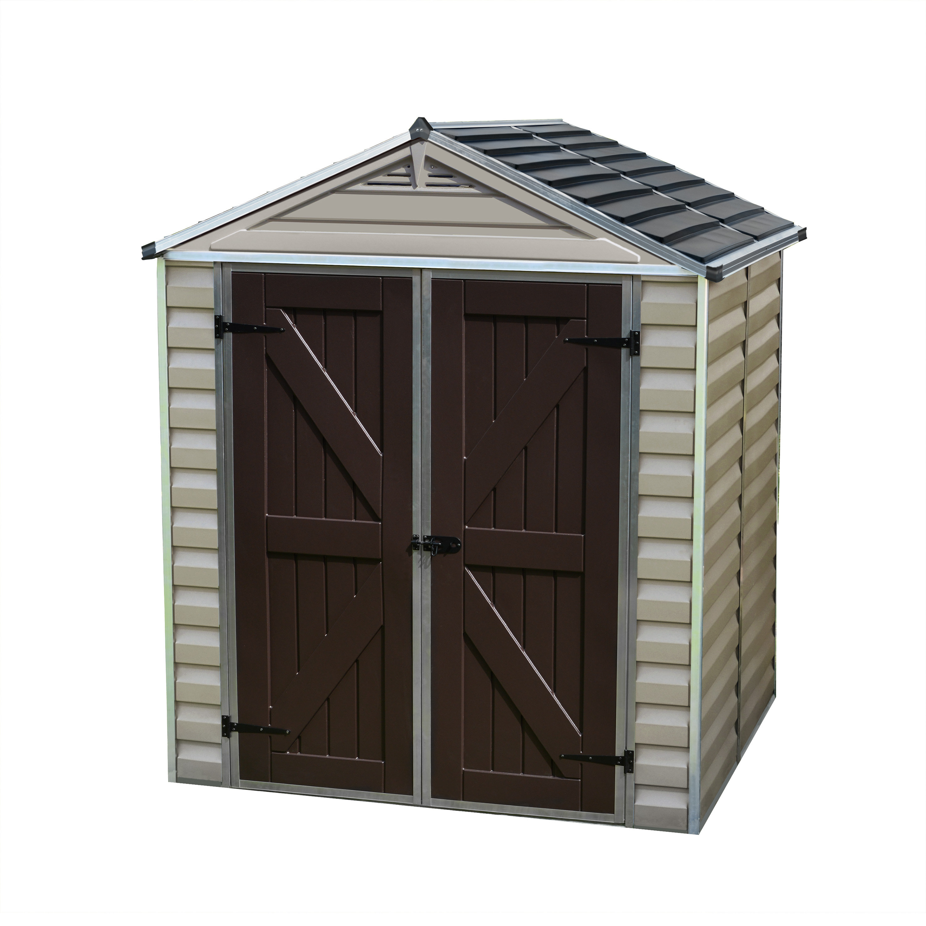 Palram Skylight Shed, 6' x 5', Tan