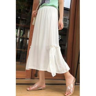 Women Elastic Tight Waist Ice Silk Skir Herringbone Silk Skirt