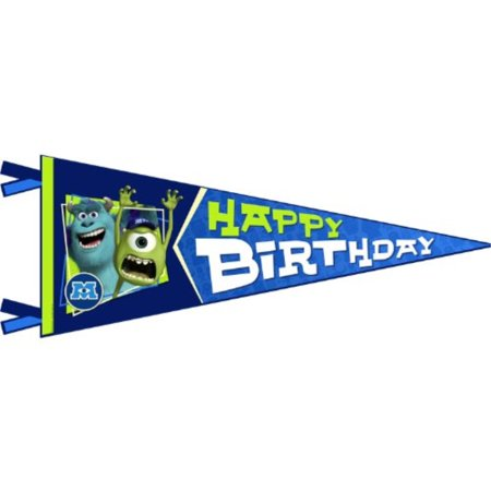 Monsters University Inc. Happy Birthday Banner Pennant (1ct)