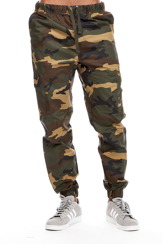 mens guys ablanche  cargo pockets twill cuffed joggers pants 9jp1-2xl-woodland