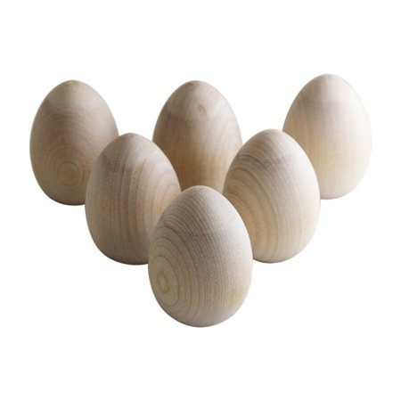 Unpainted Wooden Eggs – For Easter, Crafts, and Displays – 2-1/2