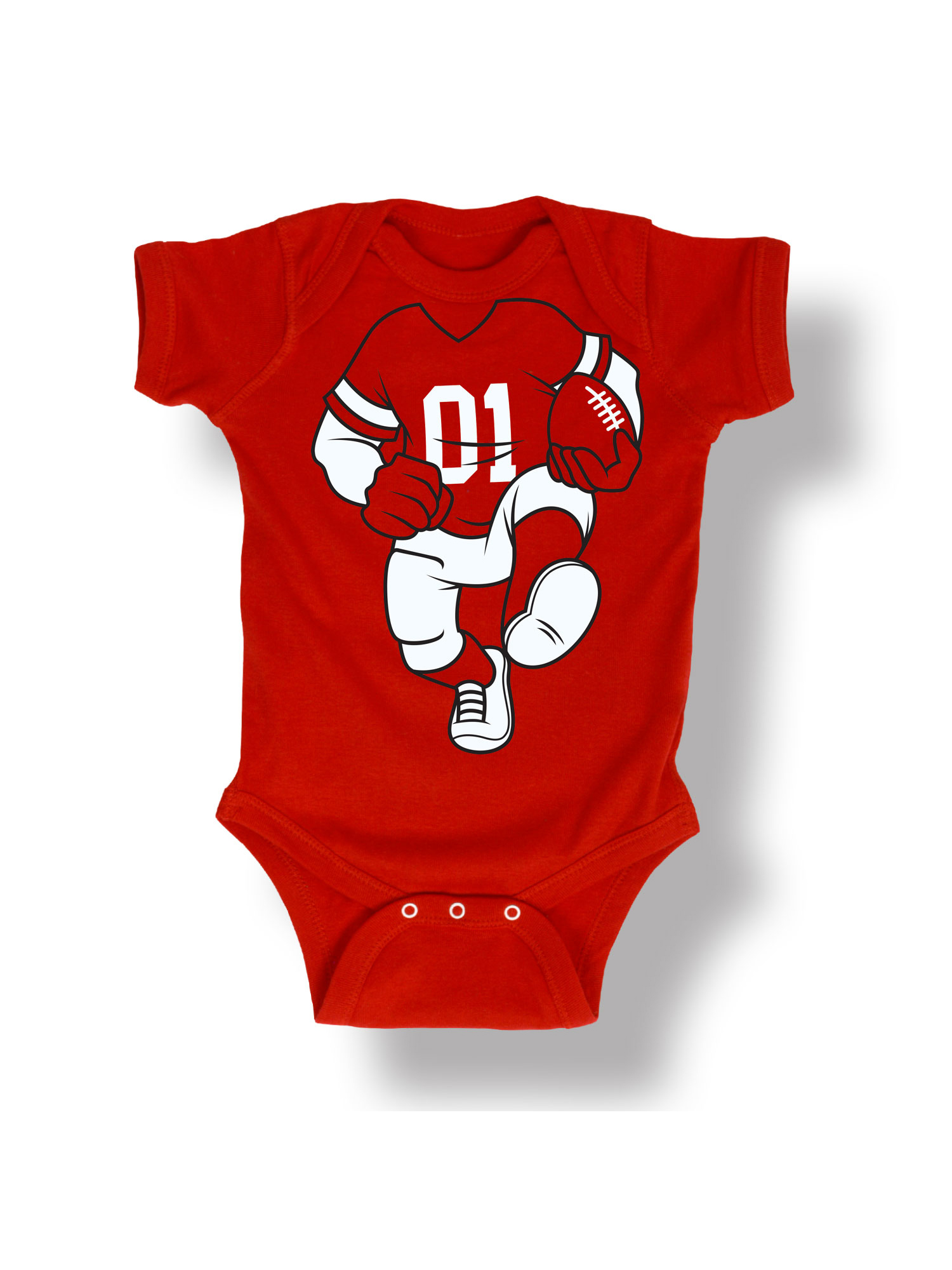 Football Player Uniform Costume Dress Up Sports Humor Baby One Piece