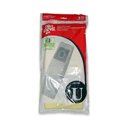 Dirt Devil Type U Microfresh Vacuum Bags 3920750001 (6 Pk)