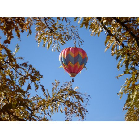Canvas Print Sky Balloon Blue Hot Air Balloon Bright Float Stretched Canvas 10 x - Hot Air Balloon Pins For Sale