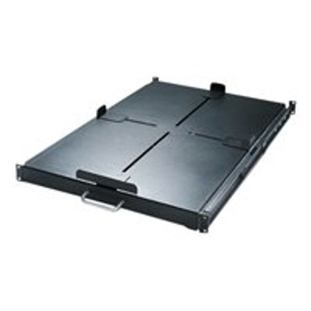 NETSHELTER HEAVY DUTY SLIDING SHELF 200LBS/91KG BLACK Sliding Rackmount Shelf