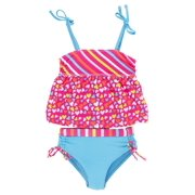 Pink Platinum Baby Girls Infant All Over Hearts Rashguard Two Piece Swimsuit Set