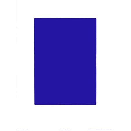 Untitled, Blue Monochrome, c.1961 (IKB73) Serigraph By Yves Klein - -