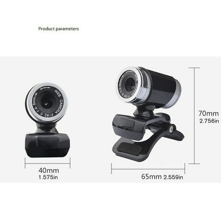 FANNI Rotatable Camera HD Webcam 480P USB Camera Video Recording Web Camera - image 2 of 8
