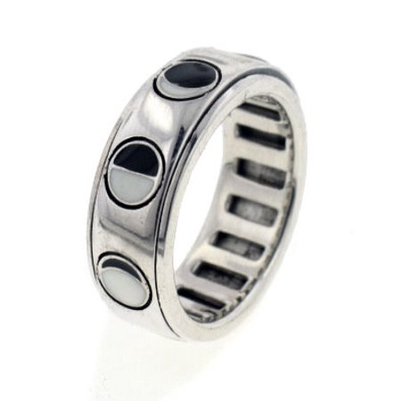 Sterling Silver Lunar Phases of the Moon Spinning Spin Band Ring