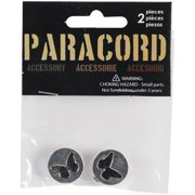Paracord Charms 2/Pkg-Silver Butterfly Silhouette Slider