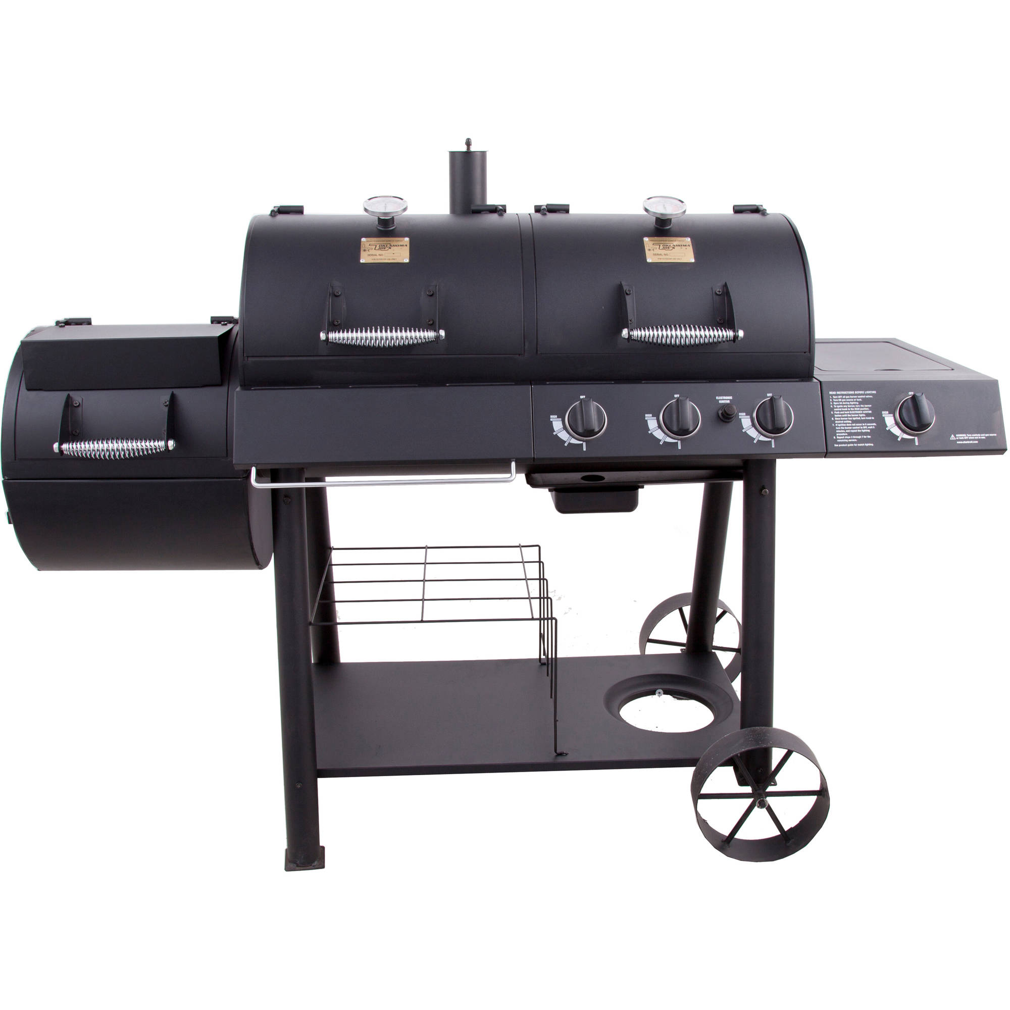 Oklahoma Joe's Charcoal/Gas/Smoker Combo
