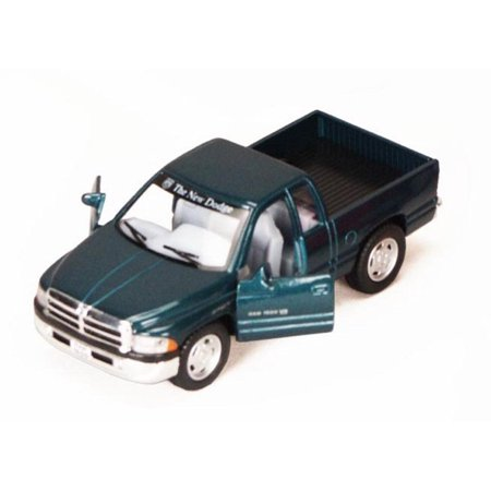 Dodge Ram Pickup Truck, Green - Kinsmart 5018D - 1/44 scale Diecast Model Toy Car (Brand New, but NOT IN BOX)