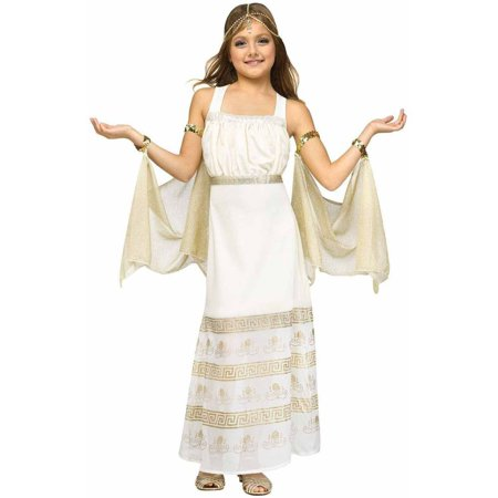Golden Goddess Child Halloween Costume - Roman Goddess Halloween Costume