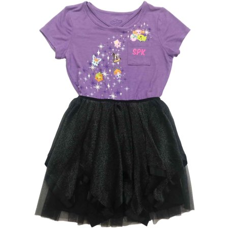 Halloween Witch Dress (Infant & Toddler Girls Shopkins Pumpkin Halloween Tulle Skirt Witch Hat)