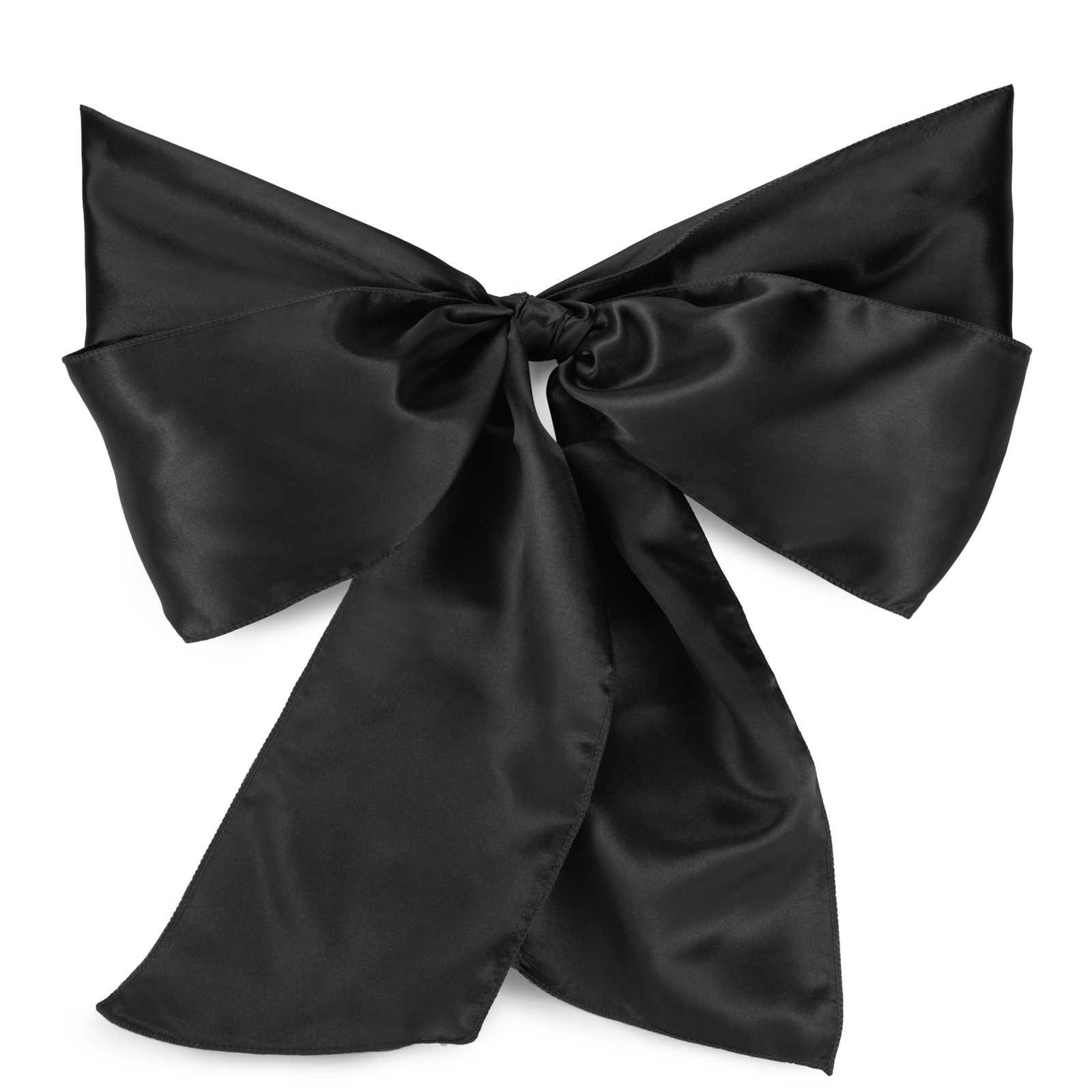 Lann's Linens - 10 Elegant Satin Wedding/Party Chair Cover Sashes/Bows - Ribbon Tie Back Sash (Multiple Colors)