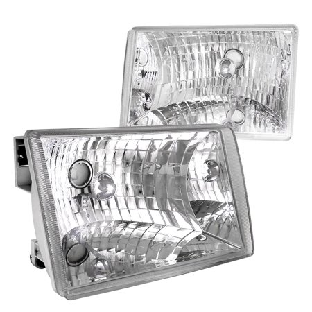 - Spec-D Tuning 1993-1998 Jeep Grand Cherokee Crystal Clear Headlights Lamp 93 94 95 96 97 98 (Left + Right)