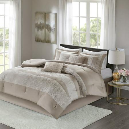 Home Essence Anett 7 Piece Chenille Jacquard Comforter Set