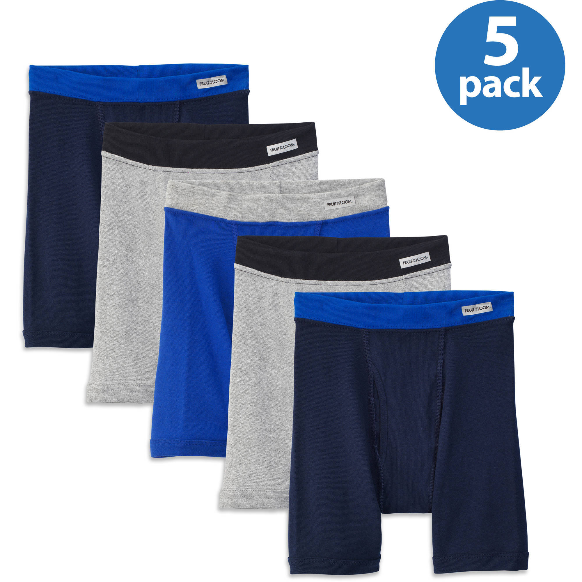 Fruit of the Loom - Boys' Boxer Briefs, 5-Pack