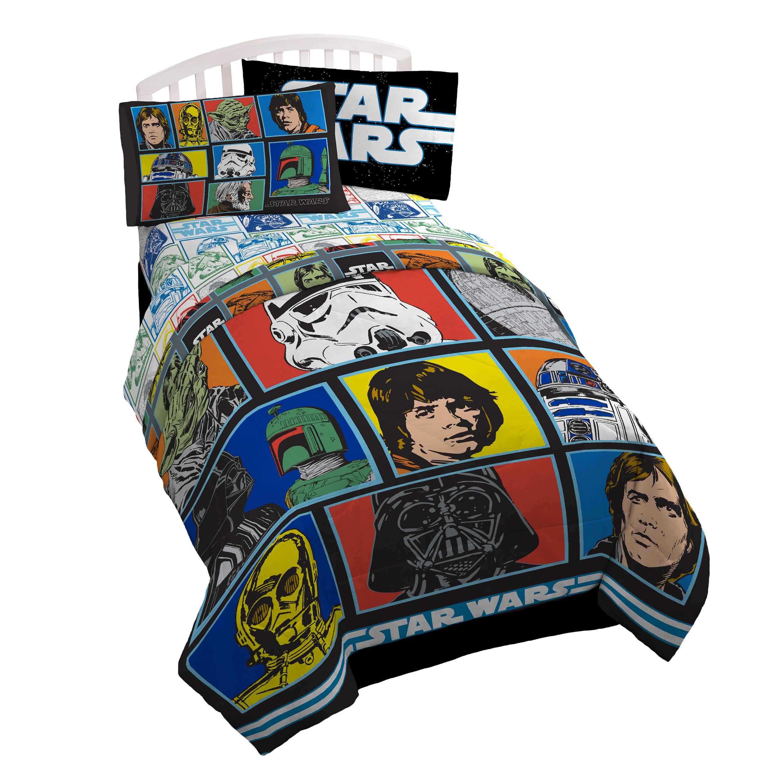 Star Wars Classic Grid 2 Microfiber Twin Comforter