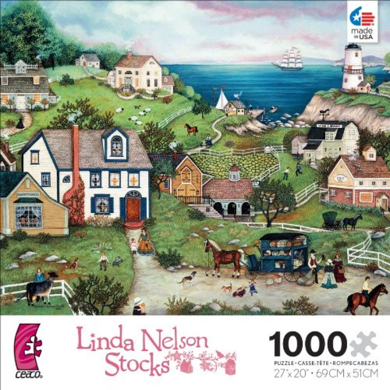 Ceaco Linda Nelson Stocks Peddler's Cove Jigsaw Puzzle