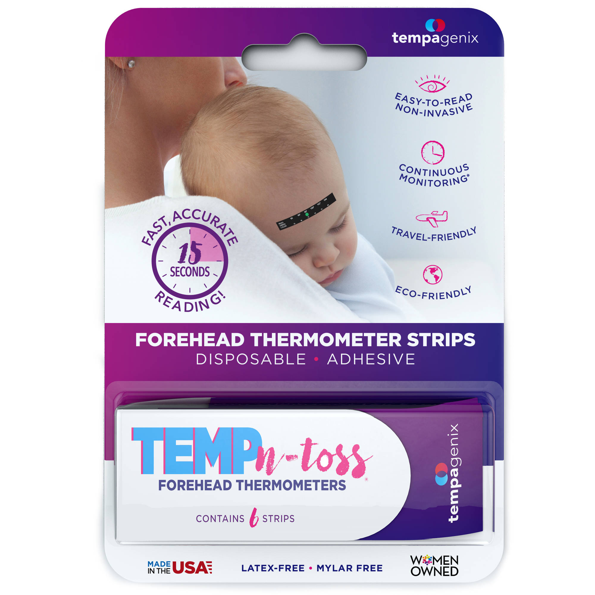 Temp-N-Toss Disposable Forehead Thermometer Strips