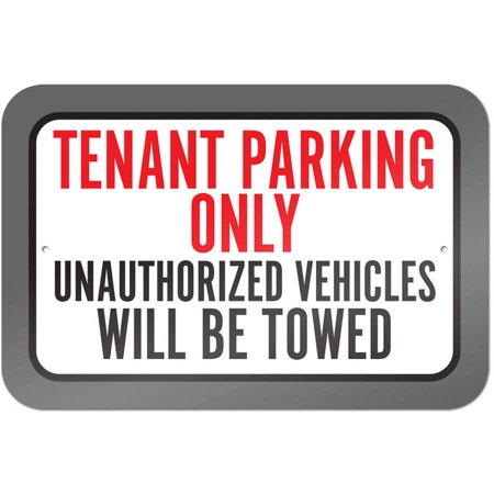 Tenant Parking Only Unauthorized Vehicles Will Be Towed