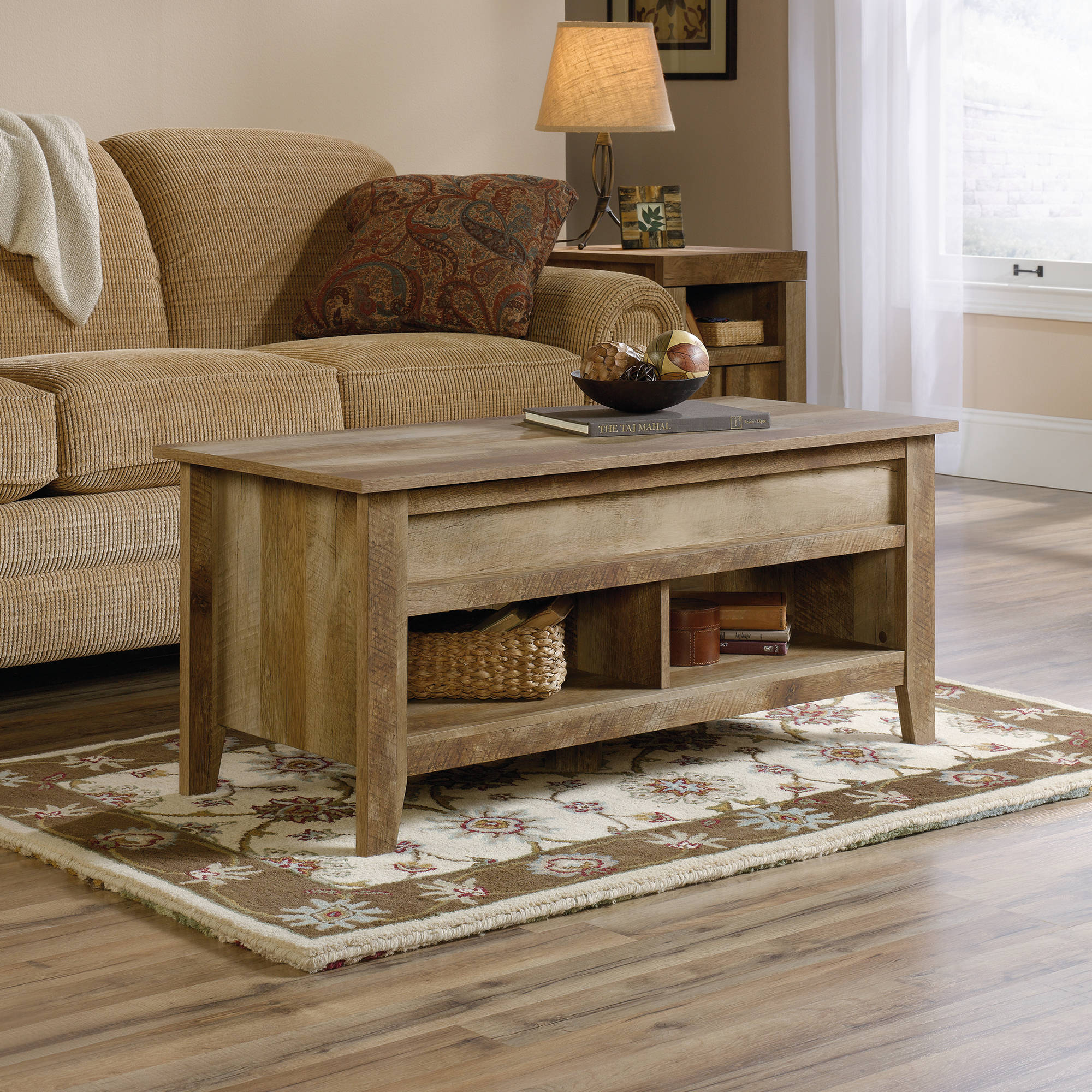 Sauder Dakota Pass Lift Top Coffee Table Craftsman Oak Finish