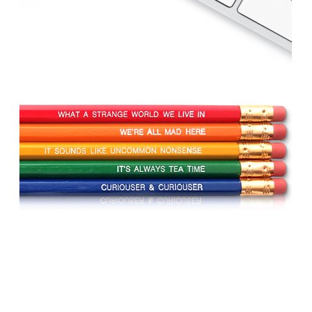 Alice in Wonderland - Inspirational Pencils Engraved With Funny And Motivational Sayings For School And The Office](Funny Pencils)