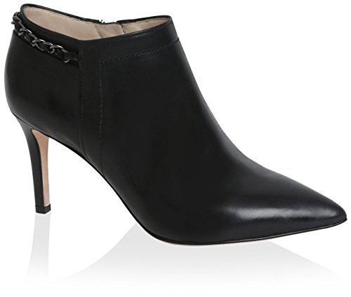 Carolina Espinosa Women's Banks Bootie, Black Leather, 6 M US by Carolina Espinosa