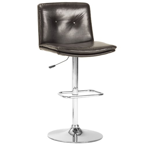 WHALEN Furniture Triple Seven Adjustable Height Bar Stool