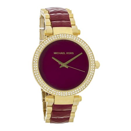 Quartz Ladies Parker Garnet Dial Crystal Bezel Quartz Watch (Dial Crystal Bezel Watch)