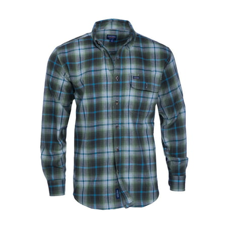 - Men's Long Sleeve Plaid Flannel Shirt