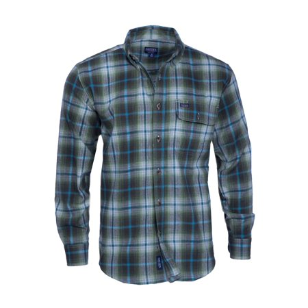 Men's Long Sleeve Plaid Flannel Shirt