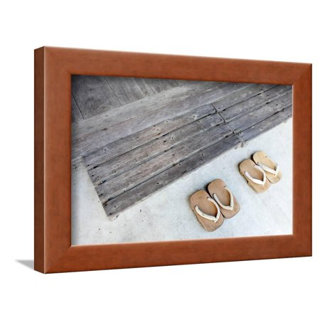 Japanese Wooden Sandals Framed Print Wall Art By Akiyoko49