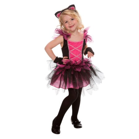 Toddler Girls Pink Sweetie Cat Costume Kitty Tutu Dress  - Size - 2T