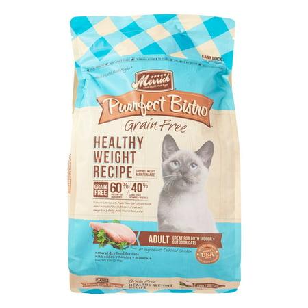 (Merrick Purrfect Bistro Grain-Free Healthy Weight Recipe Dry Cat Food, 7 lb)