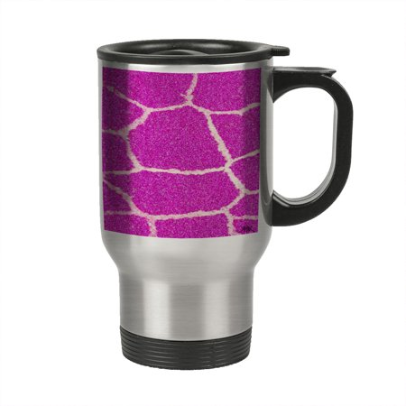 Pink Mug OzGiraffe 14 Travel Skin Stainless Insulated Steel Kuzmark Sparkle kONn8X0wPZ