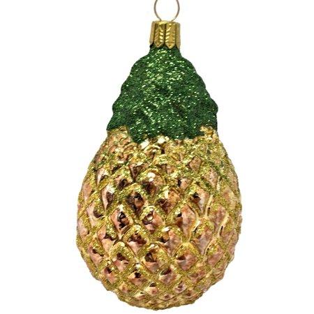 Christmas Pineapple - Pineapple Fruit German Blown Glass Christmas Tree Ornament Holiday Decoration