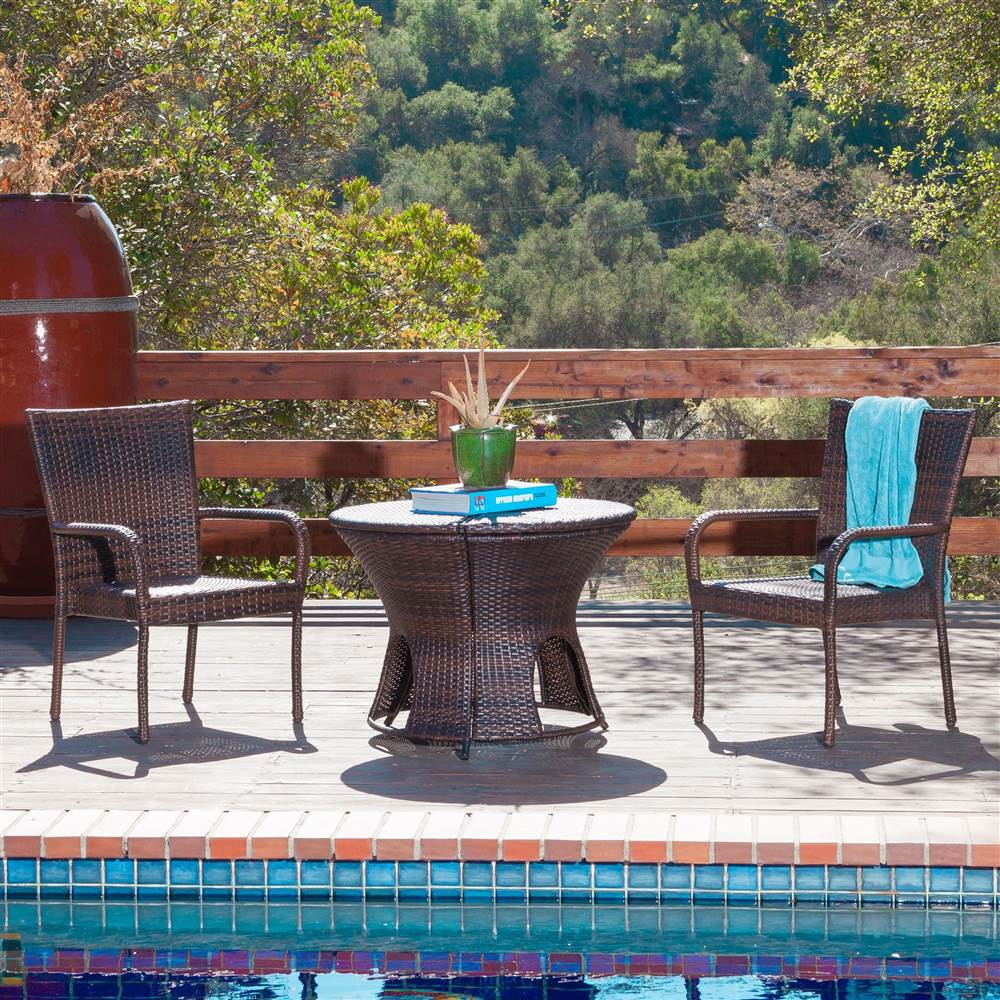 3-Pc Outdoor Seating Set