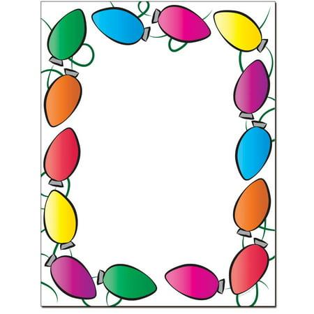 Classic Inkjet - Classic Lights Christmas Holiday Letterhead Laser & Inkjet Printer Paper