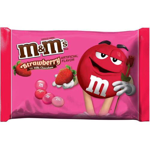 M&M's, Milk Chocolate Strawberry Valentine's Candy, 8 Oz