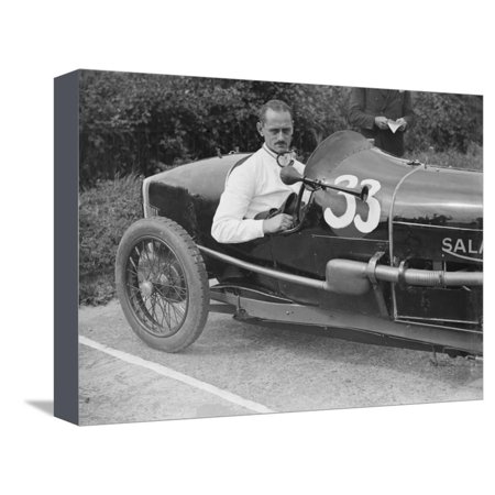 Goldie Gardner in his Salmson GS at the JCC 200 Mile Race, Brooklands, Surrey, c1920s Stretched Canvas Print Wall Art By Bill Brunell (Gs Race Suits)