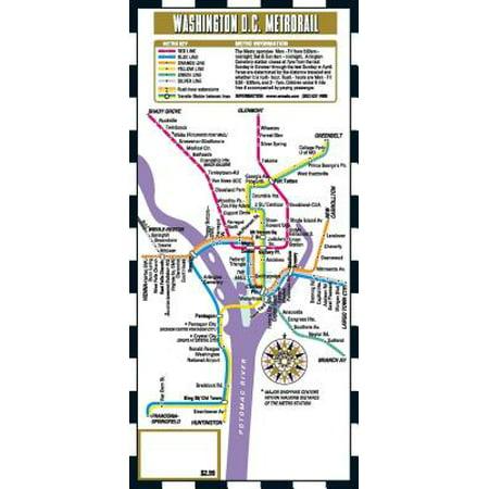 Streetwise washington dc metro map - laminated metro map of washington, dc - folded map: (Furniture Stores In Washington Dc Metro Area)