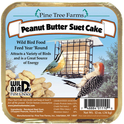 Pine Tree Farms Suet Peanut Butter Cake Bird Food