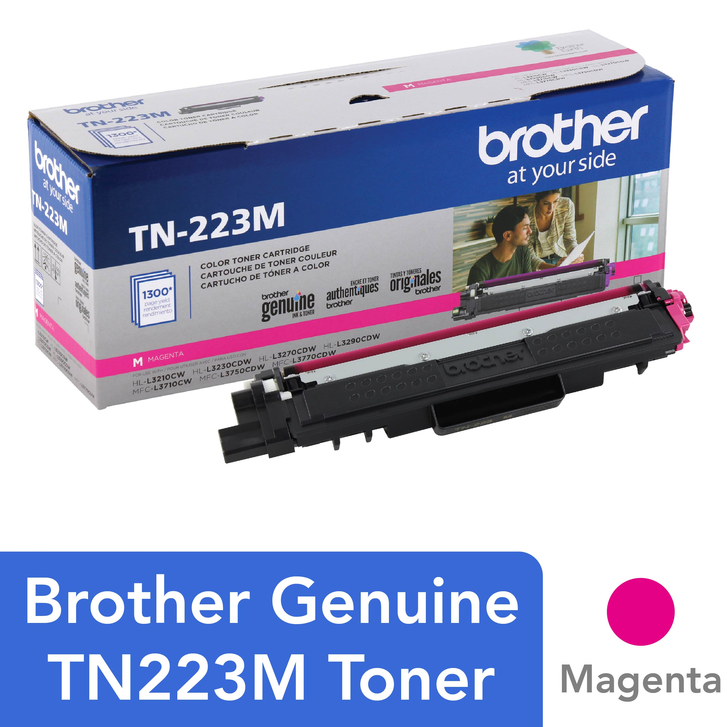 Brother Genuine TN-223M Standard Yield Magenta Toner Cartridge